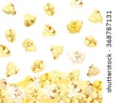 popcorn falling isolated on... | Shutterstock .eps vector #368787131