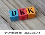 dkk  danish krone  sign on... | Shutterstock . vector #368788145