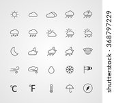 set of weather line icons   Shutterstock .eps vector #368797229