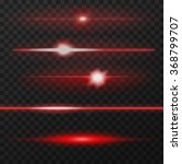 Red Horizontal Lens Flares Pac...