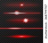 red horizontal lens flares pack.... | Shutterstock .eps vector #368799707