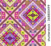 vector tribal aztec seamlesss... | Shutterstock .eps vector #368800499