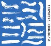 big vector white brush strokes... | Shutterstock .eps vector #368802881