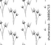 sketch flowers by hand on an... | Shutterstock .eps vector #368806715