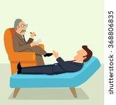 simple cartoon of a businessman ... | Shutterstock .eps vector #368806835
