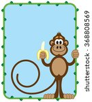Cartoon Monkey Inside Vine...
