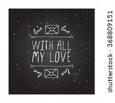 saint valentines day greeting... | Shutterstock .eps vector #368809151