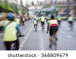 blurry of many people cycling... | Shutterstock . vector #368809679