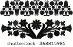 hungarian folk art | Shutterstock .eps vector #368815985