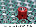 Stock photo alkaline battery aaa size with selective focus on single battery 368817134