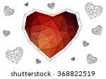 orange heart isolated on white... | Shutterstock .eps vector #368822519