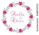 watercolor floral wreath ...   Shutterstock . vector #368824919