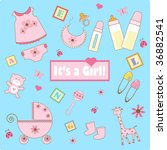 baby girl element | Shutterstock . vector #36882541
