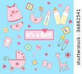 baby girl element   Shutterstock . vector #36882541