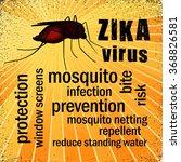 zika virus. blood filled... | Shutterstock .eps vector #368826581