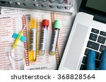 flat lay of workbench with...   Shutterstock . vector #368828564