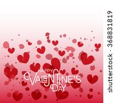 happy valentine's day text as... | Shutterstock .eps vector #368831819