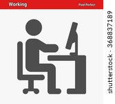 working icon. professional ... | Shutterstock .eps vector #368837189