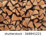 Dry Oak Wood Ready For Heating. ...