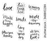 vector calligraphy. hand drawn... | Shutterstock .eps vector #368841284