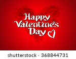 red bload heart valentines day... | Shutterstock .eps vector #368844731