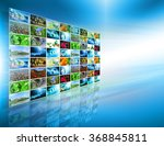 television and internet... | Shutterstock . vector #368845811