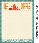 tea and coffee blank menu... | Shutterstock .eps vector #368847734