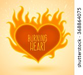 Love Burning Heart Logo With...
