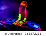 sexy female dj mixes in a club  ... | Shutterstock . vector #368872211