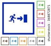 set of color square framed exit ...
