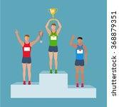 athletes on the podium | Shutterstock .eps vector #368879351