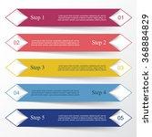 vector lines infographic.... | Shutterstock .eps vector #368884829