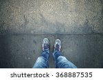 alone man standing on textured... | Shutterstock . vector #368887535