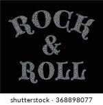 rock print with metal studs in... | Shutterstock .eps vector #368898077