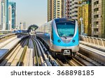 metro train on the red line in... | Shutterstock . vector #368898185