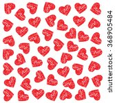 pattern scratched hearts.... | Shutterstock .eps vector #368905484