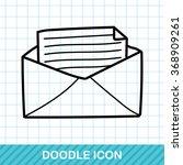 mail doodle | Shutterstock .eps vector #368909261