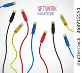 network background. patch cord. ... | Shutterstock .eps vector #368912591