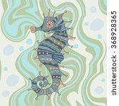 sketchy seahorse in cartoon... | Shutterstock .eps vector #368928365
