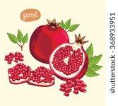 pomegranate isolated.... | Shutterstock .eps vector #368933951