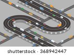 overpass  underpass  roads and... | Shutterstock .eps vector #368942447