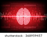 abstract brain wave concept on... | Shutterstock .eps vector #368959457