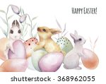 Watercolor Happy Easter Card....