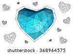 dark blue heart isolated on... | Shutterstock .eps vector #368964575