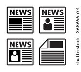newspaper icons set  vector | Shutterstock .eps vector #368966594