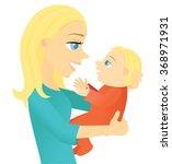 mother holding baby | Shutterstock .eps vector #368971931