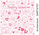 love doodle  hand drawn heart... | Shutterstock .eps vector #368976707