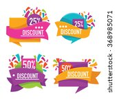 vector collection of bright discount tags, banners and stickers | Shutterstock vector #368985071