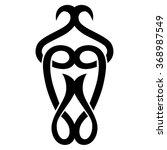tribal tattoo vector design... | Shutterstock .eps vector #368987549