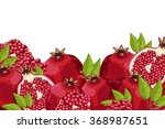 pomegranate fruit isolated on... | Shutterstock .eps vector #368987651